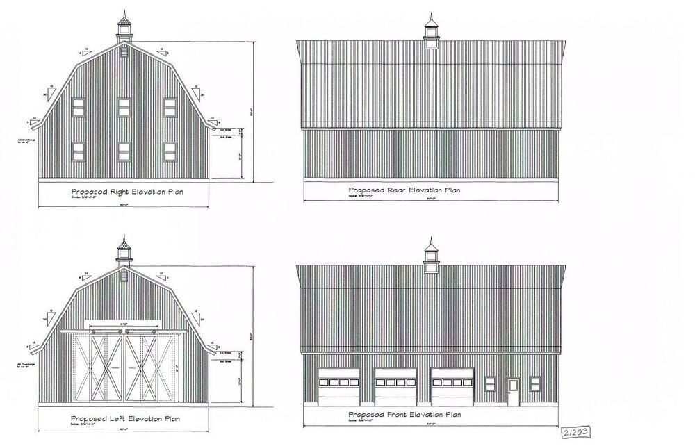 60 39 X40 39 Barn Gambrel Roof Pole Barn Plan 16p6040 1