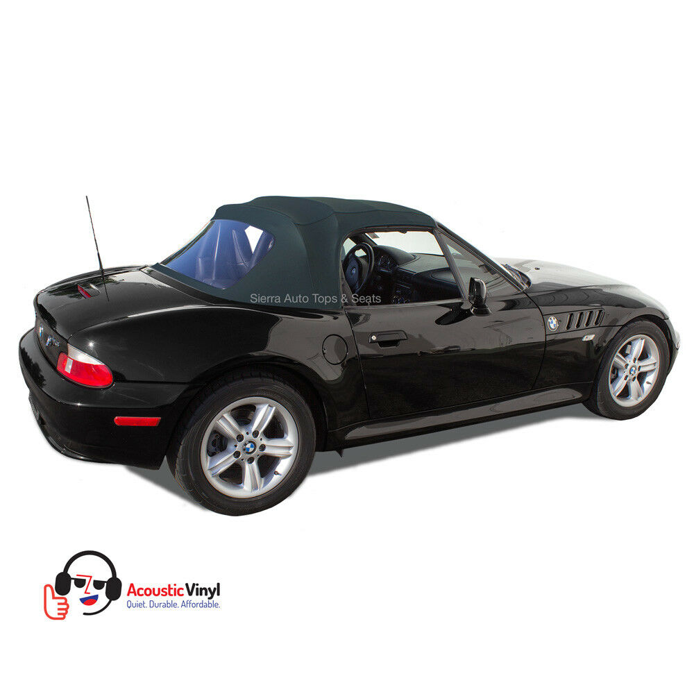 Bmw Z3 Black: Fits: 1996-2002 BMW Z3, Convertible Top With Plastic