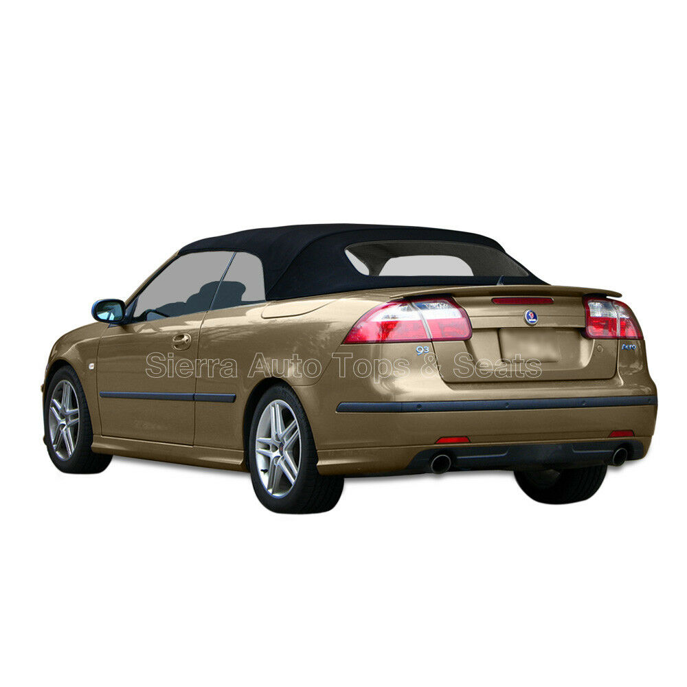 saab 9 3 convertible top 2004 2011 black haartz stayfast no window ebay. Black Bedroom Furniture Sets. Home Design Ideas