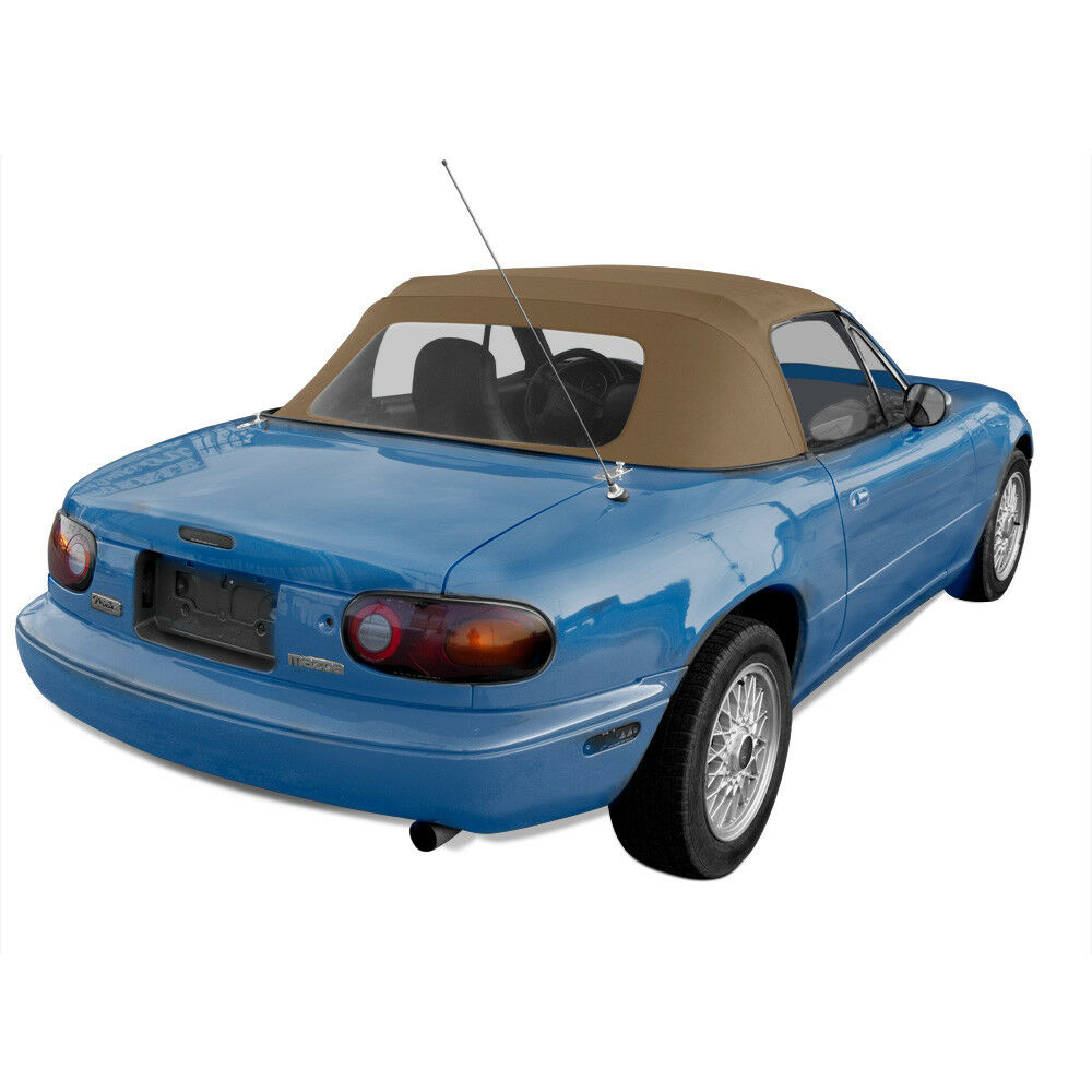 miata convertible top 1990 1997 light tan cabrio vinyl top with plastic window ebay. Black Bedroom Furniture Sets. Home Design Ideas