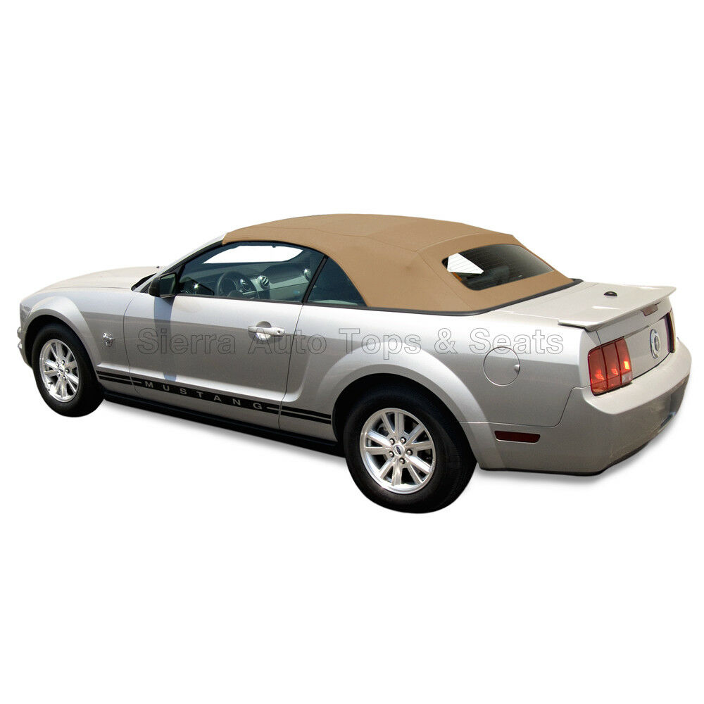 Details About Mustang Convertible Top 05 14 All Models Tan Stayfast Cloth Gl Window