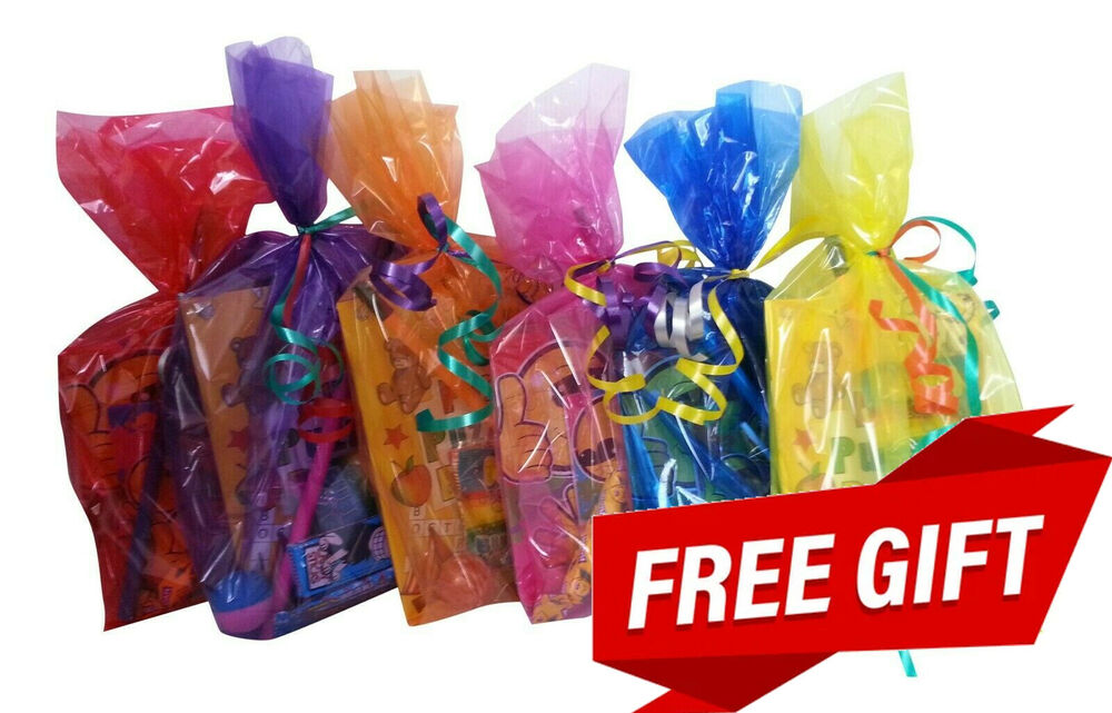 Childrens Pre Filled Unisex Party Bags Kids Birthday