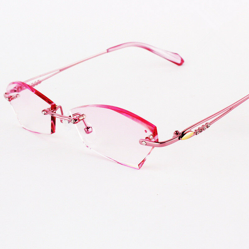 Eyeglasses Frames Titanium Womens : 100 Pure Titanium Spectacles Women Rimless Optical ...