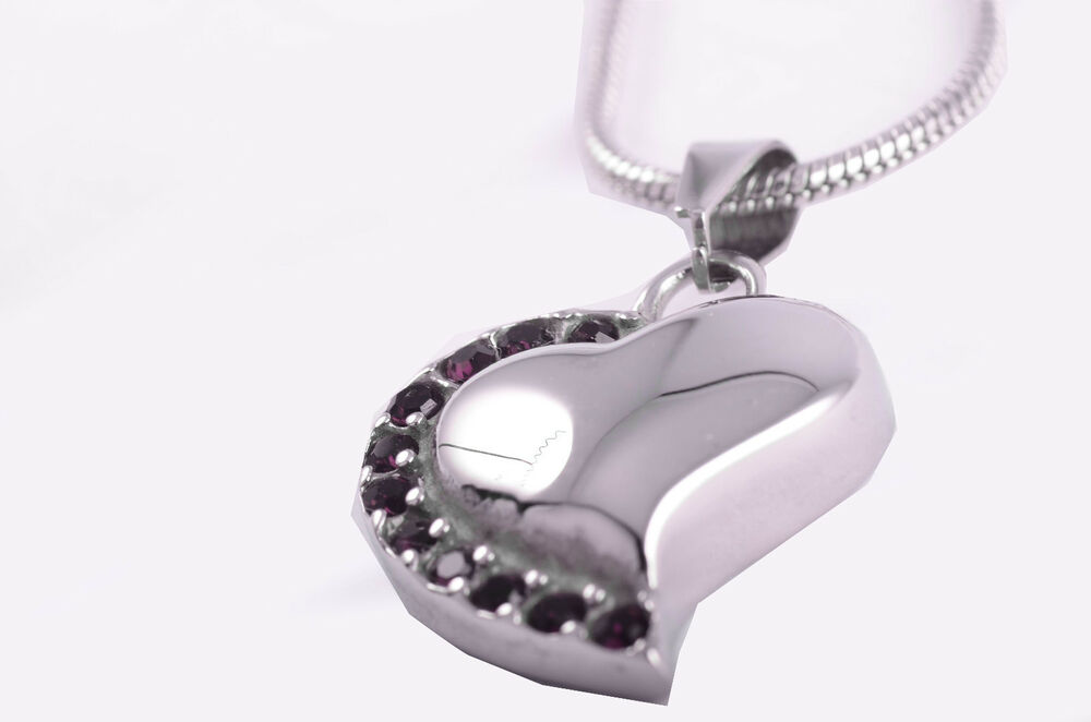 stainless steel heart cremation pendant urn jewelry holds