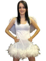 Fairy Angel Fancy Dress Costume With Feather Wings