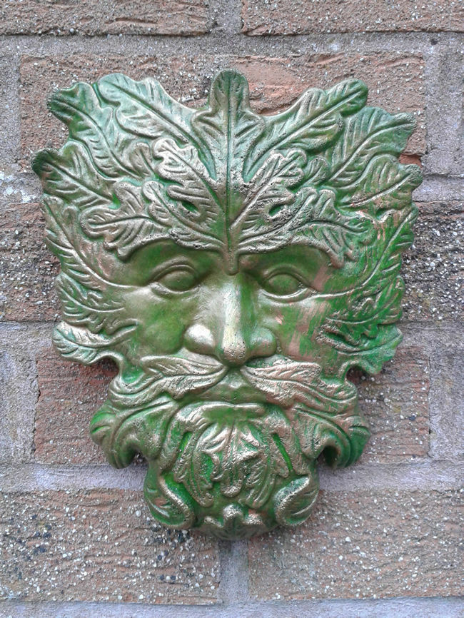 Classic greenman garden wall plaques hand cast painted - Watch over the garden wall online free ...
