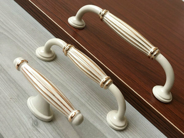 5 white gold knobs drawer pull handle kitchen for 5 kitchen cabinet pulls