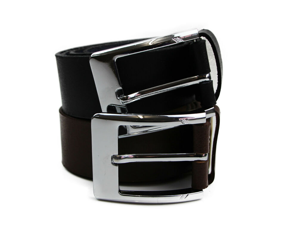 mens high quality leather belt grain s buckle