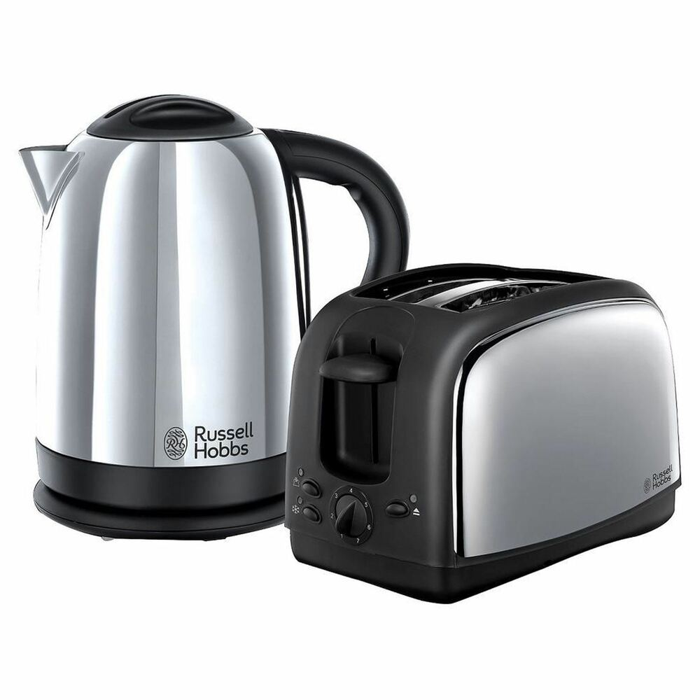 russell hobbs 21830 lincoln twin pack 2 slice toaster and 1 7 ltr kettle ebay. Black Bedroom Furniture Sets. Home Design Ideas
