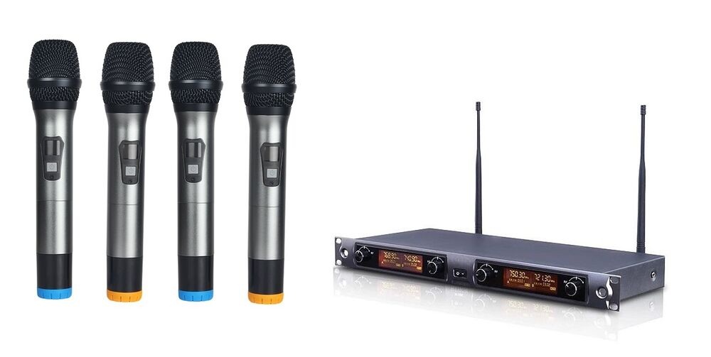 professional four channels wireless microphone system for shure ut4 wireless new ebay. Black Bedroom Furniture Sets. Home Design Ideas