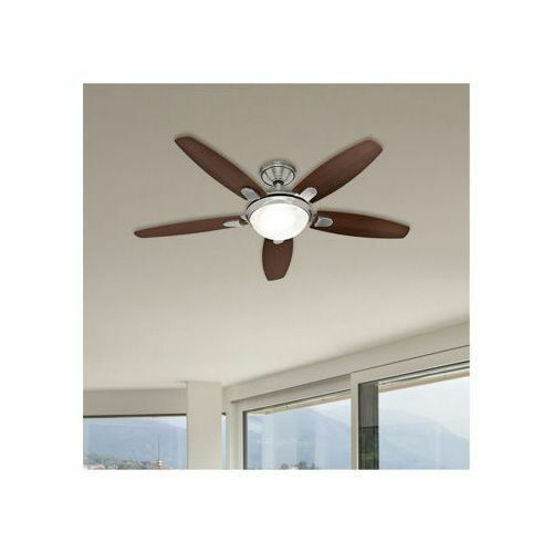 Hunter Fan Contempo 54u0026quot; Ceiling Fan Brushed Nickel Finish with Remote Control : eBay