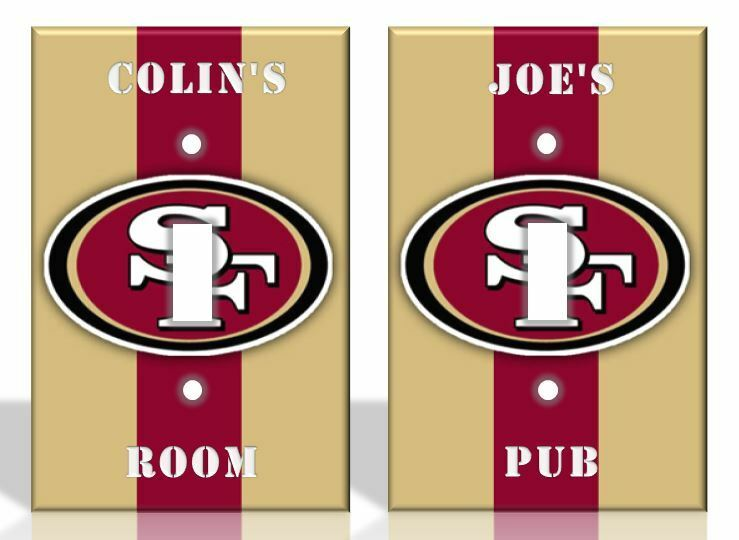 Http Www Ebay Com Itm Personalized San Francisco 49ers Light Switch Covers Nfl Football Home Decor
