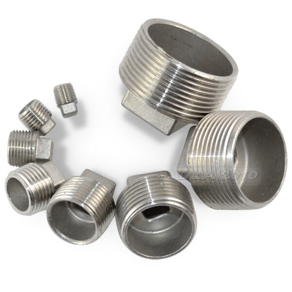 Quot malleable square head pipe fitting plug threaded