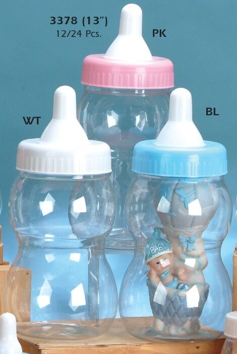 jumbo large bottle baby shower nursery party favor decoration plastic