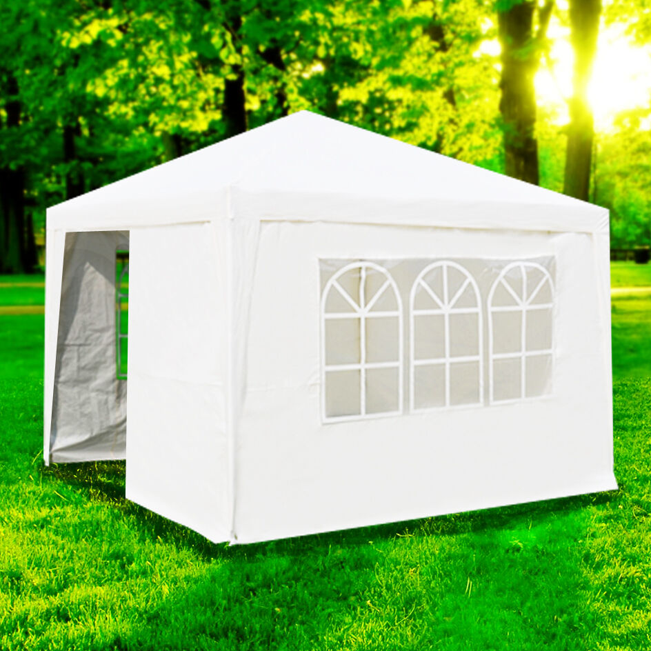10 X10 Outdoor Canopy Party Wedding Tent White Gazebo