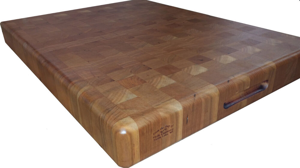 Butcher Block Cutting Boards ~ Cherry butcher block cutting board new end grain ebay