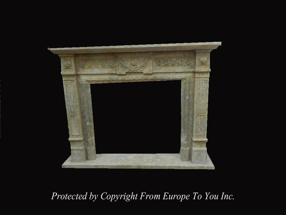 hand carved antique stone style fireplace mantel jps603 ebay
