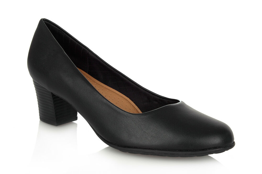 Piccadilly Mid Heel Cabin Crew Shoe/Court Shoe 110072 ...