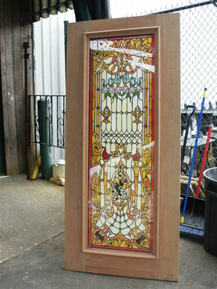 Handmade stained glass tempered doors blow out sale for Entrance doors for sale