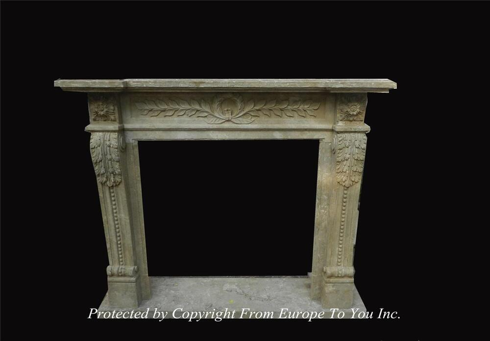 hand carved antique stone style fireplace mantel jps600 ebay