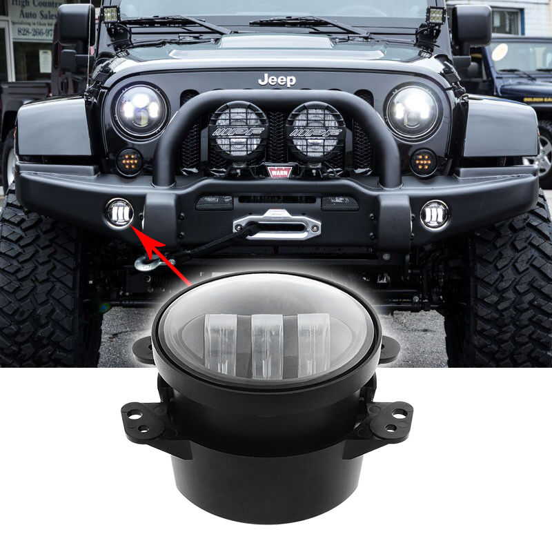 2x For 2007 2015 Jeep Wrangler Unlimited Jk 4 Door Cree