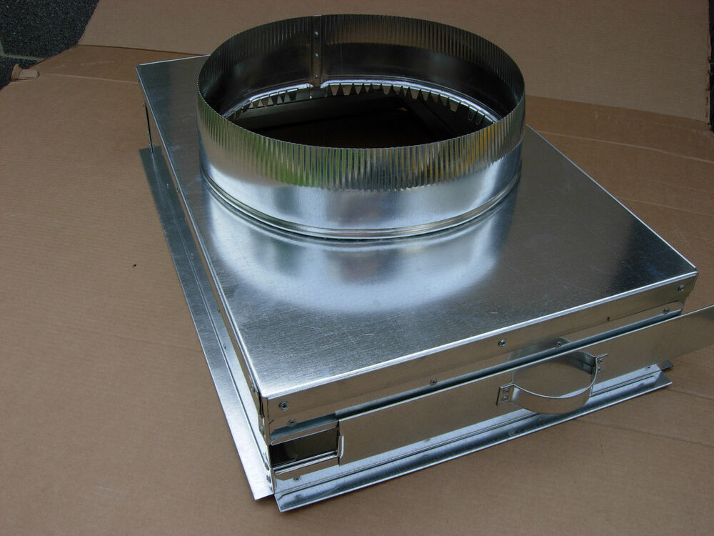 12 Round Air Cleaner : Return air filter plenum with end cap and round