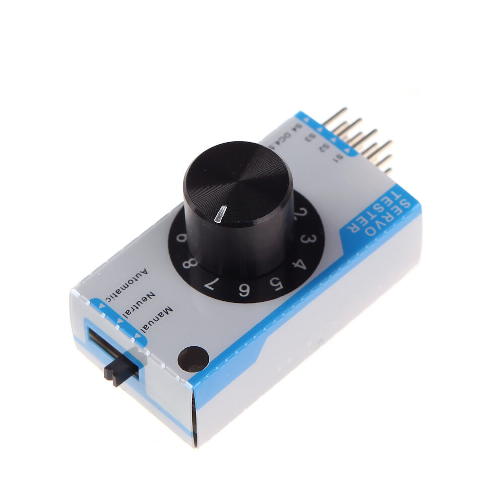 how to use a servo tester to control an esc