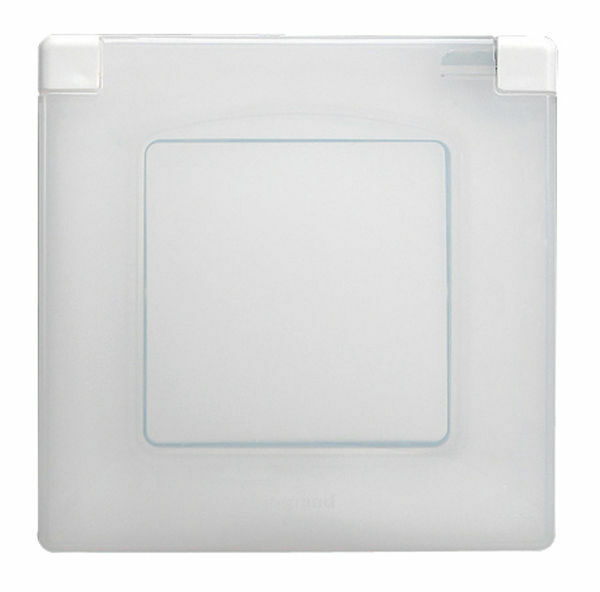 legrand niloe 665000 waterproof plate ip44 white ebay. Black Bedroom Furniture Sets. Home Design Ideas