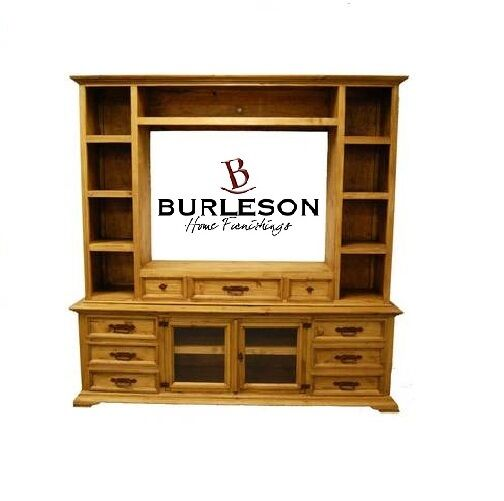 Rustic Entertainment Center Wall Unit Real Wood Tv Stand