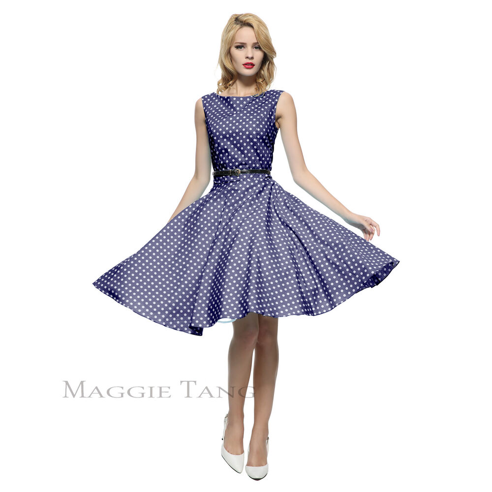 Maggie tang 50s vtg retro pinup hepburn rockabilly polka for Classic 50s housewife