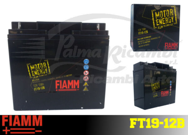 FT19-12B BATTERIA MOTO FIAMM AGM TECHNOLOGY 19Ah 200A