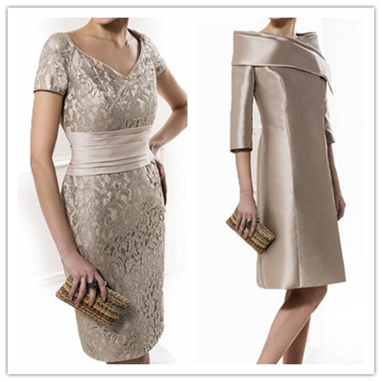 Champagne mother of the bride groom outfits lace wedding for Coat and dress outfits for wedding guests