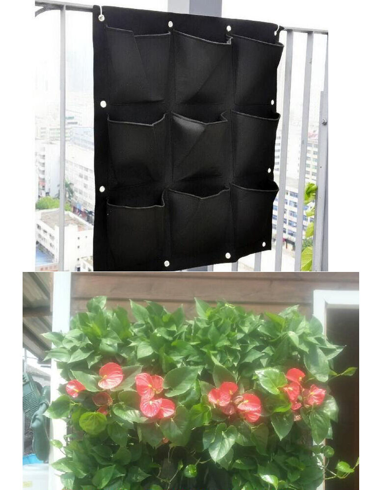 9 Pocket Vertical Greening Hanging Wall Garden Planting