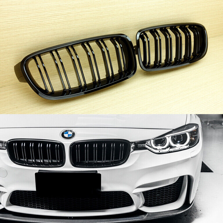 2012+ Front M3 Style Gloss Black Grille For BMW F30 F31