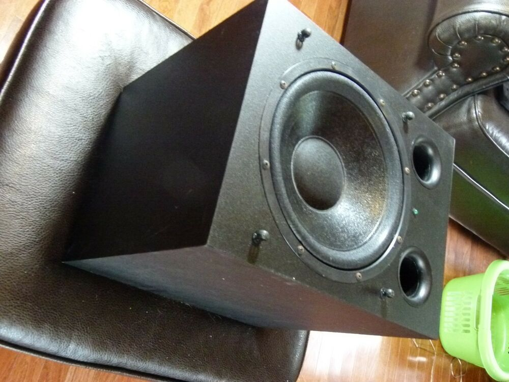 psb alpha subsonic 1 powered sub woofer no power cord 10 driver 65 watts rms ebay. Black Bedroom Furniture Sets. Home Design Ideas