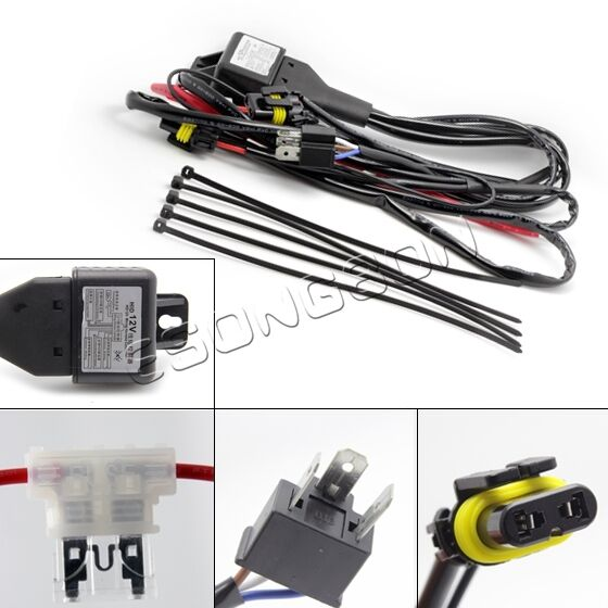Relay harness for h4 9003 hilo bi xenon hid conversion bulb relay harness for h4 9003 hilo bi xenon hid conversion bulb wiring controller ebay sciox Images