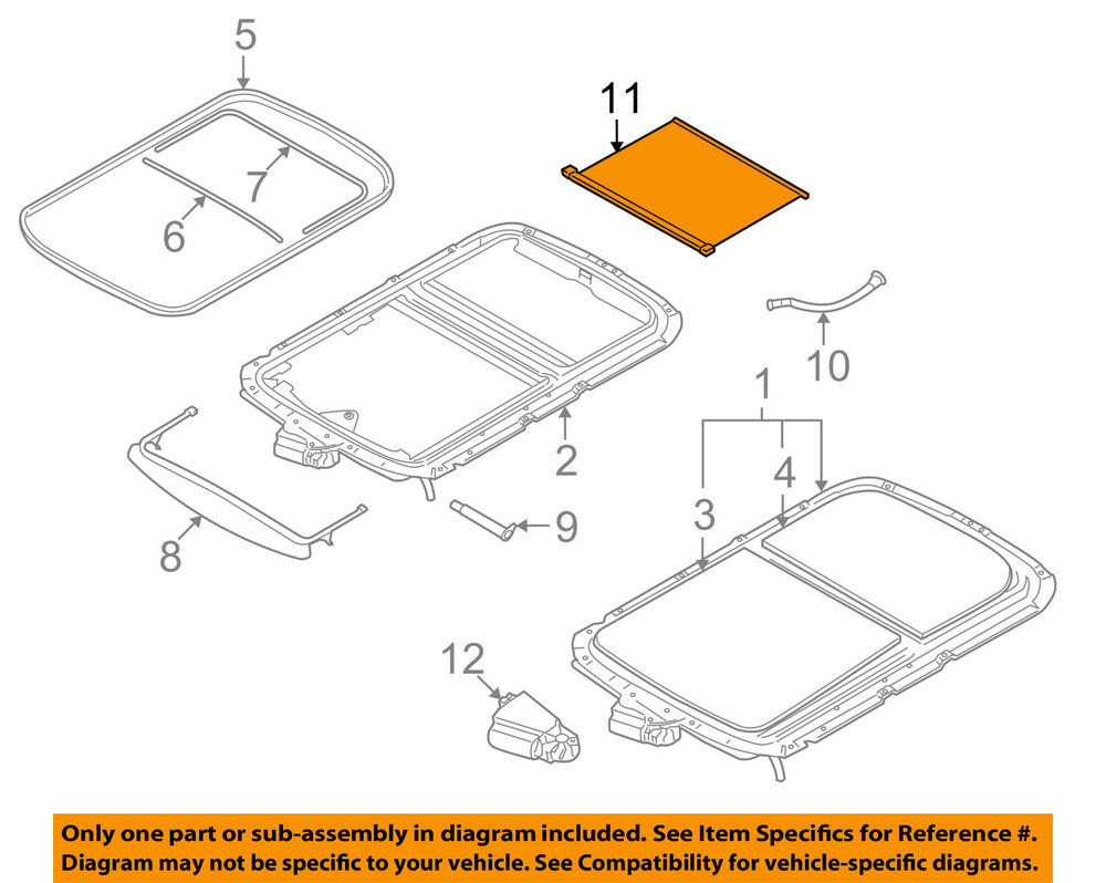 Mini Cooper Sunroof Wiring Diagram Detailed Diagrams Oem 07 14 Sun Roof Sunshade Shade Cover 2012