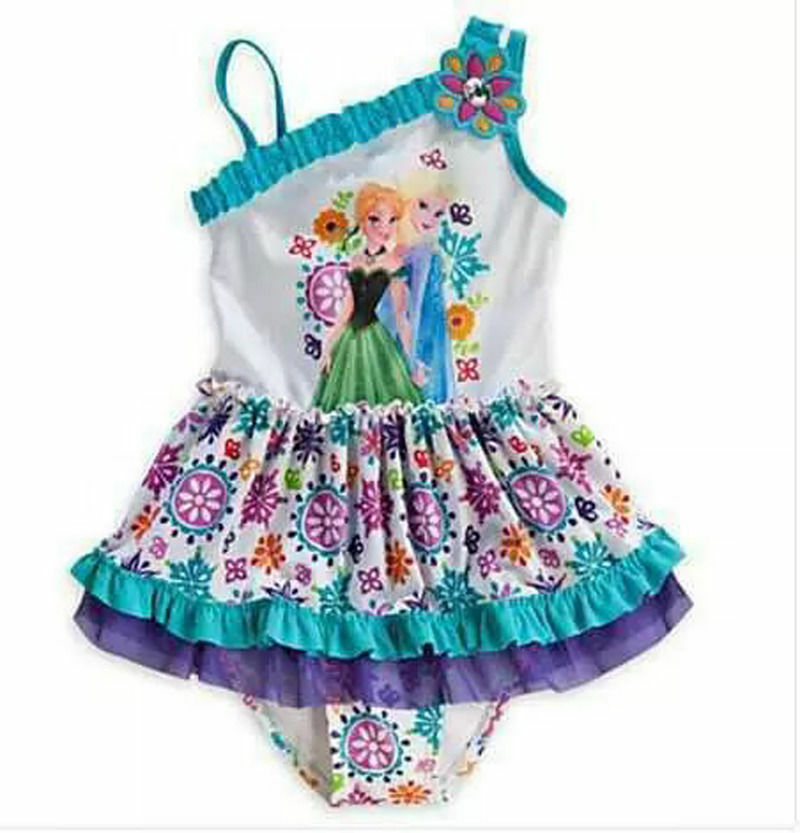 New Hot Exclusive Frozen Elsa Anna Swim Bathing Suit