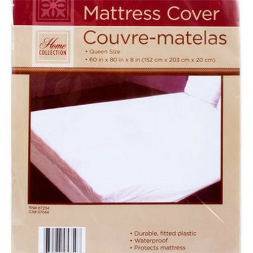 Queen Size Mattress Cover Extra Soft Plastic Fitted
