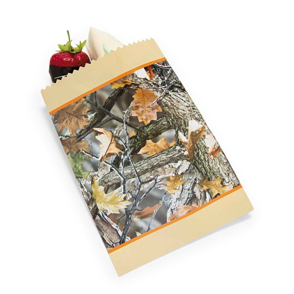 camo wedding supplies decorations 50 camouflage camo paper cake bags wedding 2417