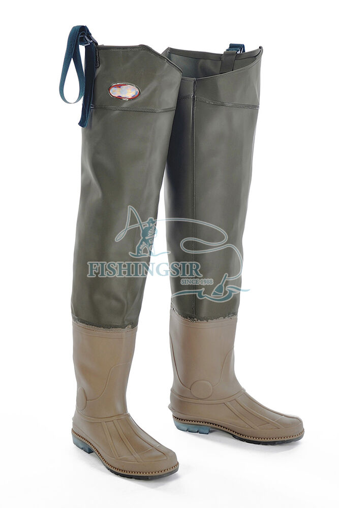 Fishingsir 100 waterproof breathable pvc hip bootfoot for Fishing waders with boots
