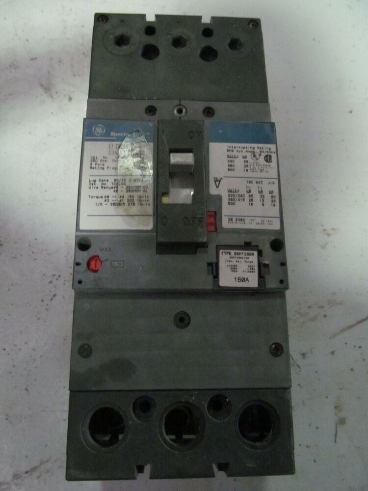 ge spectra rms sfha36at0250 circuit breaker 250 amp 3 pole. Black Bedroom Furniture Sets. Home Design Ideas