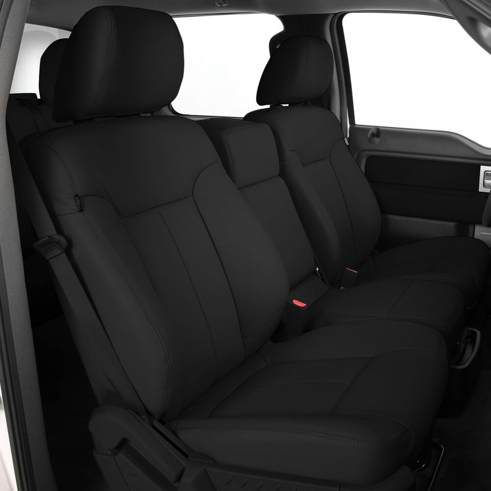 katzkin black ebony leather seat cover covers 2012 ford f150 super crew xlt new ebay. Black Bedroom Furniture Sets. Home Design Ideas