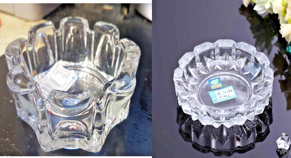 Ash tray glass cut cigarette bar pub restaurant crystal How can i cut glass at home