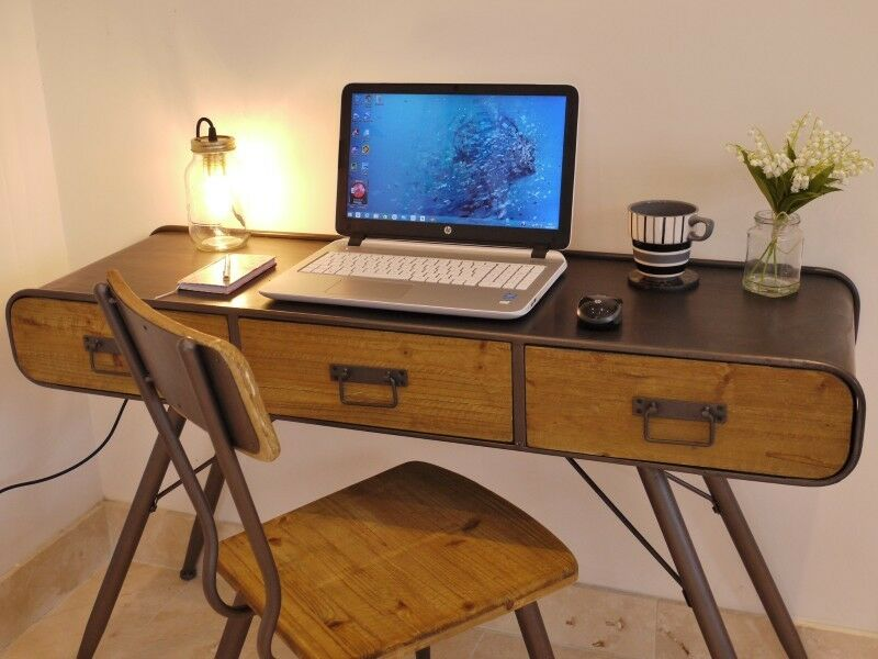 Stunning Urban Vintage Style Console Table Computer Desk