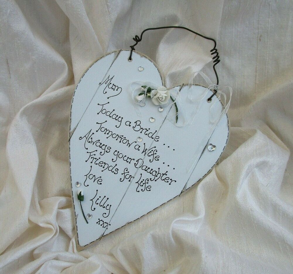 Wedding Gifts For Bride Ebay : ... wooden heart Wedding Gift for Mother of the Bride Personalized eBay