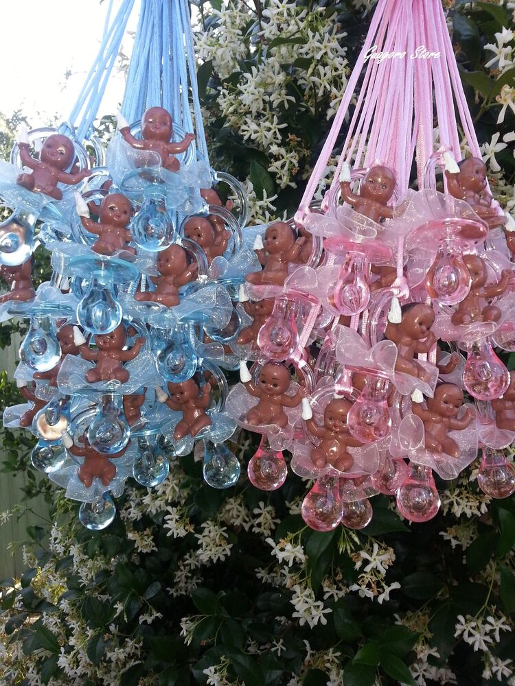 Pacifier Necklaces African American Baby Shower Game