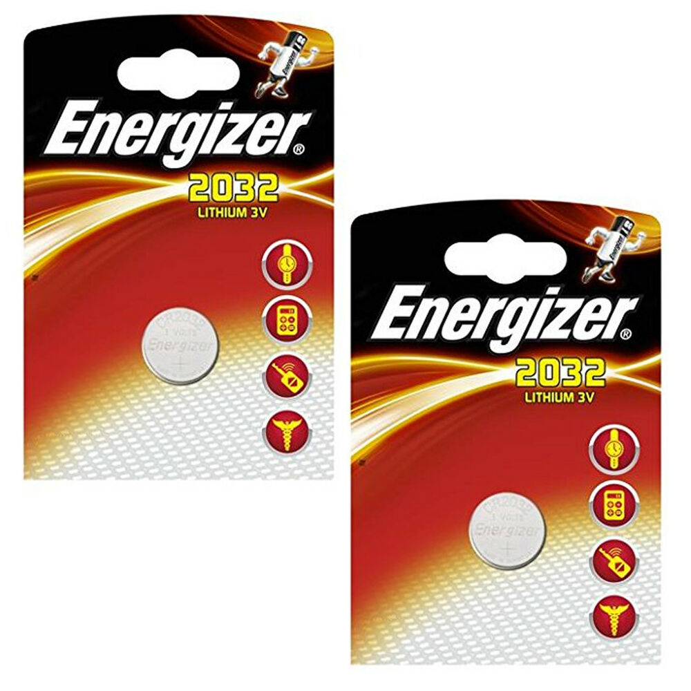 1 2 x energizer cr2032 lithium coin cell 3v batteries. Black Bedroom Furniture Sets. Home Design Ideas