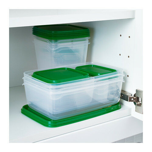 new ikea set of 34 piece food storage saver container bpa free plastic with lids ebay. Black Bedroom Furniture Sets. Home Design Ideas