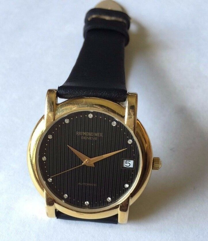 raymond weil 18k gold plated automatic s swiss